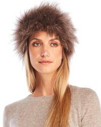 Yves Salomon | Brown Real Raccoon Fur Headband | Lyst