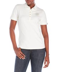 Tommy Hilfiger | White Studded Logo Polo for Men | Lyst