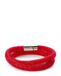 Swarovski - Red Stardust Double Bracelet - Lyst