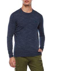 Superdry Blue Orange Label Crew Neck Sweater for men