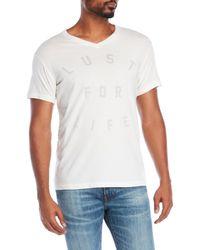 Sol Angeles - White Lust For Life V-Neck Tee for Men - Lyst