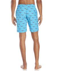 La Perla - Blue Sea Print Board Shorts for Men - Lyst