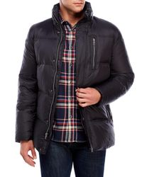 Cole Haan Packable Down Jacket With Neck Pillow In Black