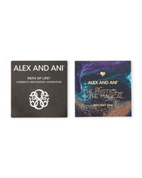 ALEX AND ANI - Metallic Two-Piece Silver-Tone Path Of Life Bangle Set - Lyst