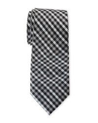 Pierre Cardin - Black Contrast Pattern Slim Tie for Men - Lyst