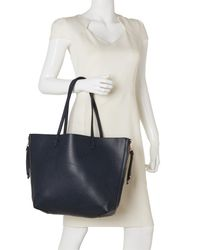 Imoshion - Blue Navy & Cognac Side-Zip Reversible Tote - Lyst