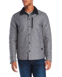 Victorinox - Gray Diamond Quilted Jacket for Men - Lyst
