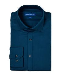Vince Camuto - Blue Comfort Stretch Slim Fit Dress Shirt for Men - Lyst