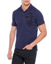Emporio Armani | Blue Patchwork Polo for Men | Lyst