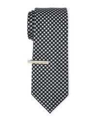 Burma Bibas | Black Mini Check Print Tie for Men | Lyst