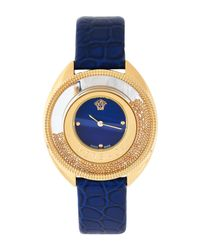 Versace - Metallic Var090017 Gold-tone & Blue Watch - Lyst