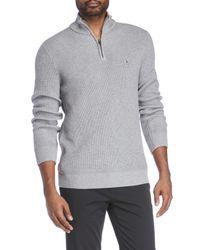 Tommy Hilfiger | Gray Knit Harrington Sweater for Men | Lyst