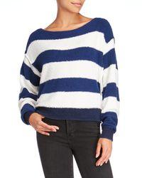 Free People Blue Candyland Boatneck Sweater