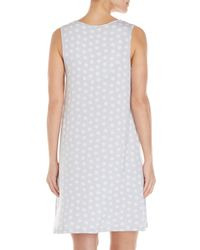 Ellen Tracy - Gray Sleeveless Printed Nightgown - Lyst
