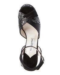 Terry De Havilland - Black & Silver Glitter Zia Platform Sandals - Lyst