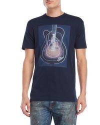 Ben Sherman - Blue Guitar Graphic Tee for Men - Lyst