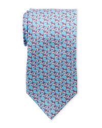 Pierre Cardin - Blue Silk Dolphin Tie for Men - Lyst