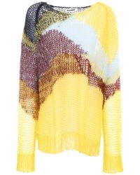 Jil Sander - Yellow Mohair Wool Blend Pullover - Lyst
