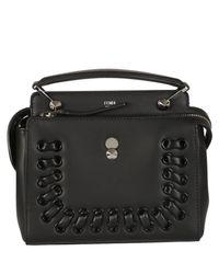 Fendi - Black Dotcom Shoulder Bag - Lyst