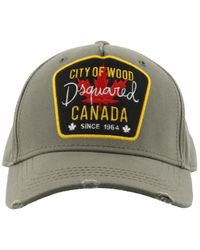 DSquared² - Green City Of Wood Patch Cap for Men - Lyst