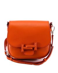 Tod's - Orange Double T Saddle Bag - Lyst