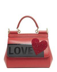 Dolce & Gabbana - Red Love Medium Sicily Tote Bag - Lyst