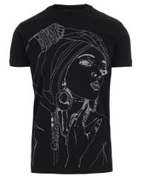 DSquared² - Black Woman Sketch T-shirt - Lyst