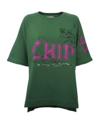 Burberry - Green Fish & Chips T-shirt - Lyst