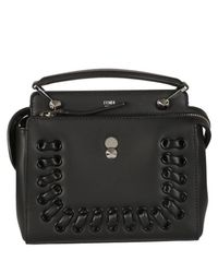 Fendi - Black Dotcom Shoulder Bag - Lyst