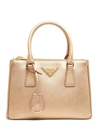 2e6ac63619c9 Prada Small Galleria Tote Bag in Metallic - Lyst