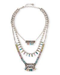 DANNIJO - Metallic Velia Three-strand Necklace - Lyst