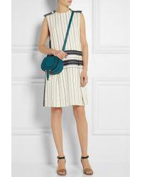 cf02e1d887 Lyst - Chloé The Marcie Mini Texturedleather Shoulder Bag in Blue