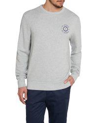 Ben Sherman - Gray Vintage Target Print Crew Neck Sweatshirt for Men - Lyst