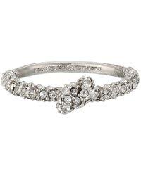 kate spade new york - Metallic Sailor's Knot Pave Ring - Lyst