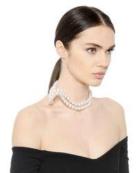 Stella McCartney - White Swarovski Pearl Necklace - Lyst