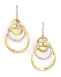 Marco Bicego | Metallic Jaipur Diamond Link Drop Earrings | Lyst