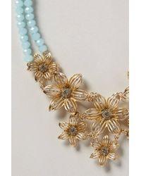 Anthropologie - Blue Gilded Gerbera Bib Necklace - Lyst