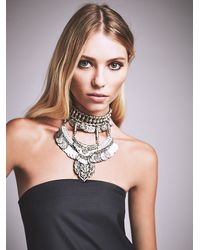 Free People - Metallic Casablanca Layered Choker - Lyst