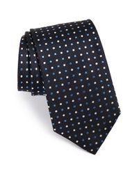 Ermenegildo Zegna - Blue Dot Print Silk Tie for Men - Lyst