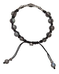 Roman Paul - Gray Labradorite Bracelet for Men - Lyst