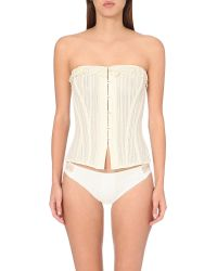 La Perla | Natural Heritage Lace Bustier Corset - For Women | Lyst