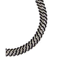 BCBGMAXAZRIA - Black Woven Box-chain Necklace - Lyst