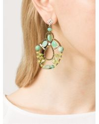 Ziio - Green Murano Glass Bead Earrings - Lyst