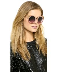 Erdem - Pink Cat Eye Sunglasses - Black - Lyst