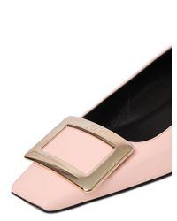 Roger Vivier   Pink 25mm Belle Vivier Patent Leather Pumps   Lyst