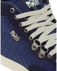 Beck & Hersey   Blue Hitop Trainers for Men   Lyst