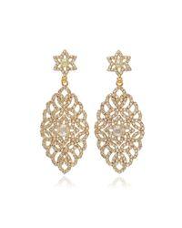 Bavna | Metallic Marquise Multicolor Diamond Drop Earrings | Lyst
