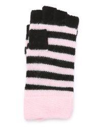 kate spade new york - Black Modern Heritage Stripe Pop Top Mittens - Cream - Lyst