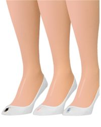 Pink Pony | White 3-pack Ultra Low Polo Liner Socks | Lyst