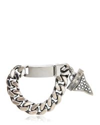 Givenchy | Metallic Embellished Shark Tooth Bracelet for Men | Lyst